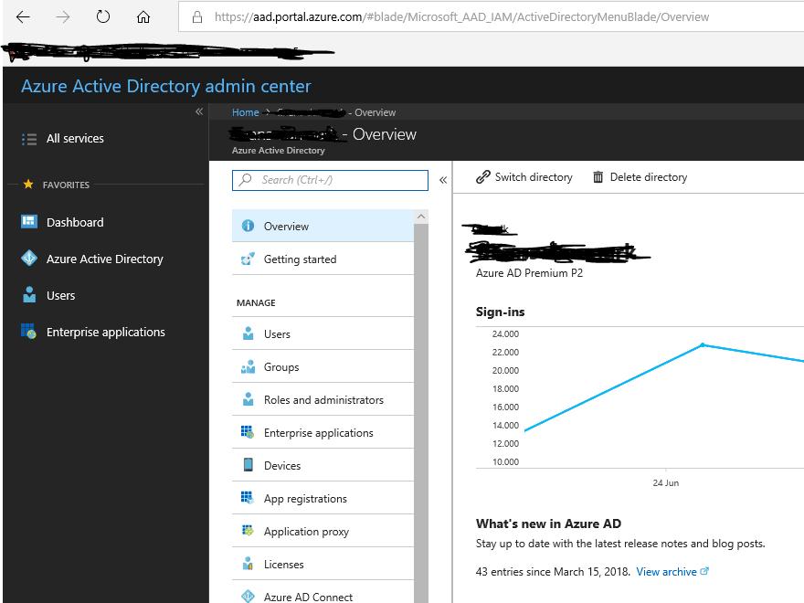 Azure AD screenshot