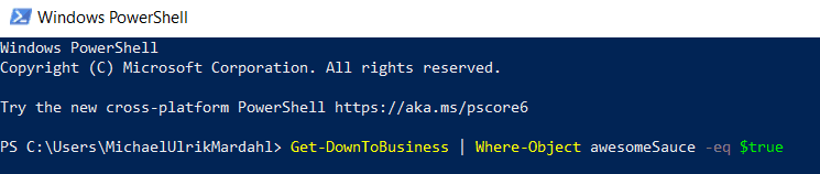 A picture of some Exchange Online PowerShell